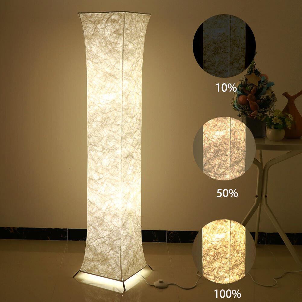Us Modern Floor Lamps Living Room Standing Led Lamp Fabric Light With 2 Bulbs For Sale Online Ebay