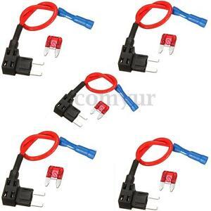 5-x-ajouter-un-circuit-Mini-Blade-Fuse-epissure-Titulaire-ATM-APM-Piggy-Back-fusibles-Tap-12-V