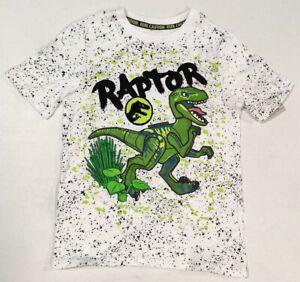 Lego Jurassic Park Shirt White Raptor Tee For Boys Size Medium 8