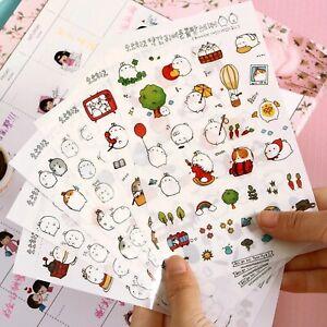 6-Sheets-Cute-Molang-Rabbit-Stickers-Kawaii-Korean-Diary-Scrapbook-Craft-Kids