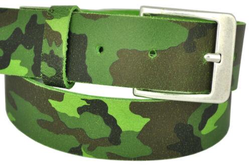 22 Farben /& 12 Längen Wählbar 4cm Echt Leder Guertel mit Nickel Free Scshnalle