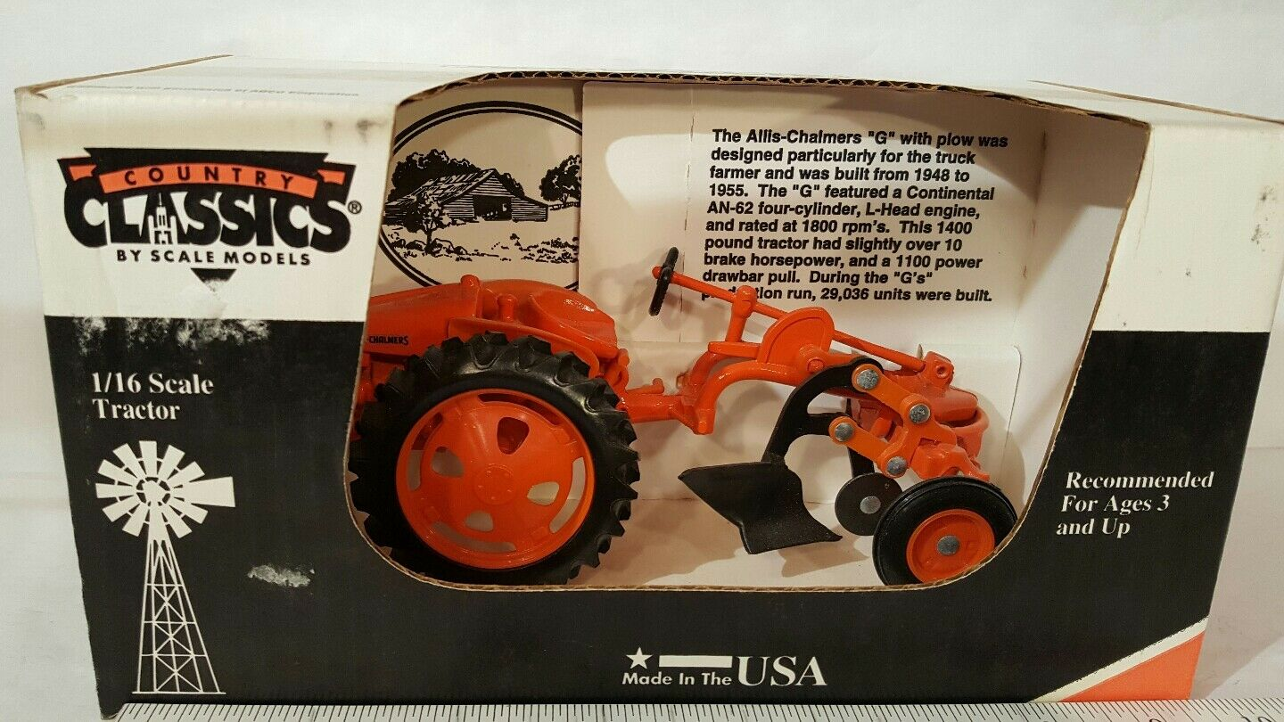 Allis Chalmers G w plow 1 16 diecast farm tractor replica by Scale Models
