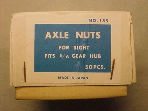 50 Vintage Sturmey Archer 3 speed hub Axle Nuts lot 50 nos