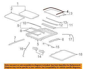 Excellent Cadillac Gm Oem 08 14 Cts Sunroof Rear Seal 20913285 Ebay Wiring Cloud Intapioscosaoduqqnet