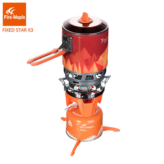 Fire Maple  FMS-X3 Cooking System Portable  Gas Stove Burner 1500W 0.8L 600g  the latest models