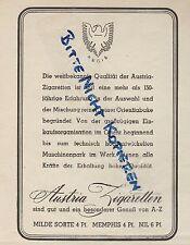 MÜNCHEN, Werbung 1938, Zigaretten-Fabrik Tabak Austria Zigaretten Milde Sorte