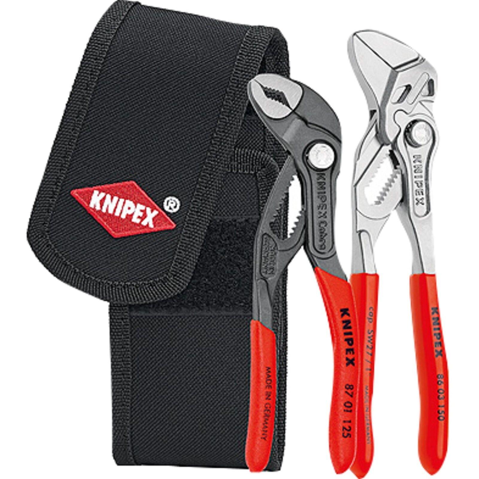 Knipex Mini-Zangenset 002072V01, 2-teilig, Zangen-Set, rot