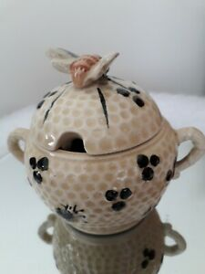 Vintage 1930s rare beehive pot possibly made by marutomoware, stamped foreign