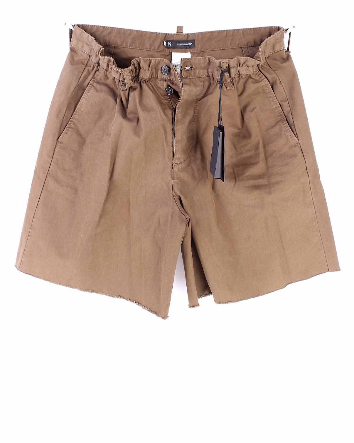 Pantaloni Corti Shorts men DSQUARED S71MU0345 Col727 Cotone Made In  Nuovi