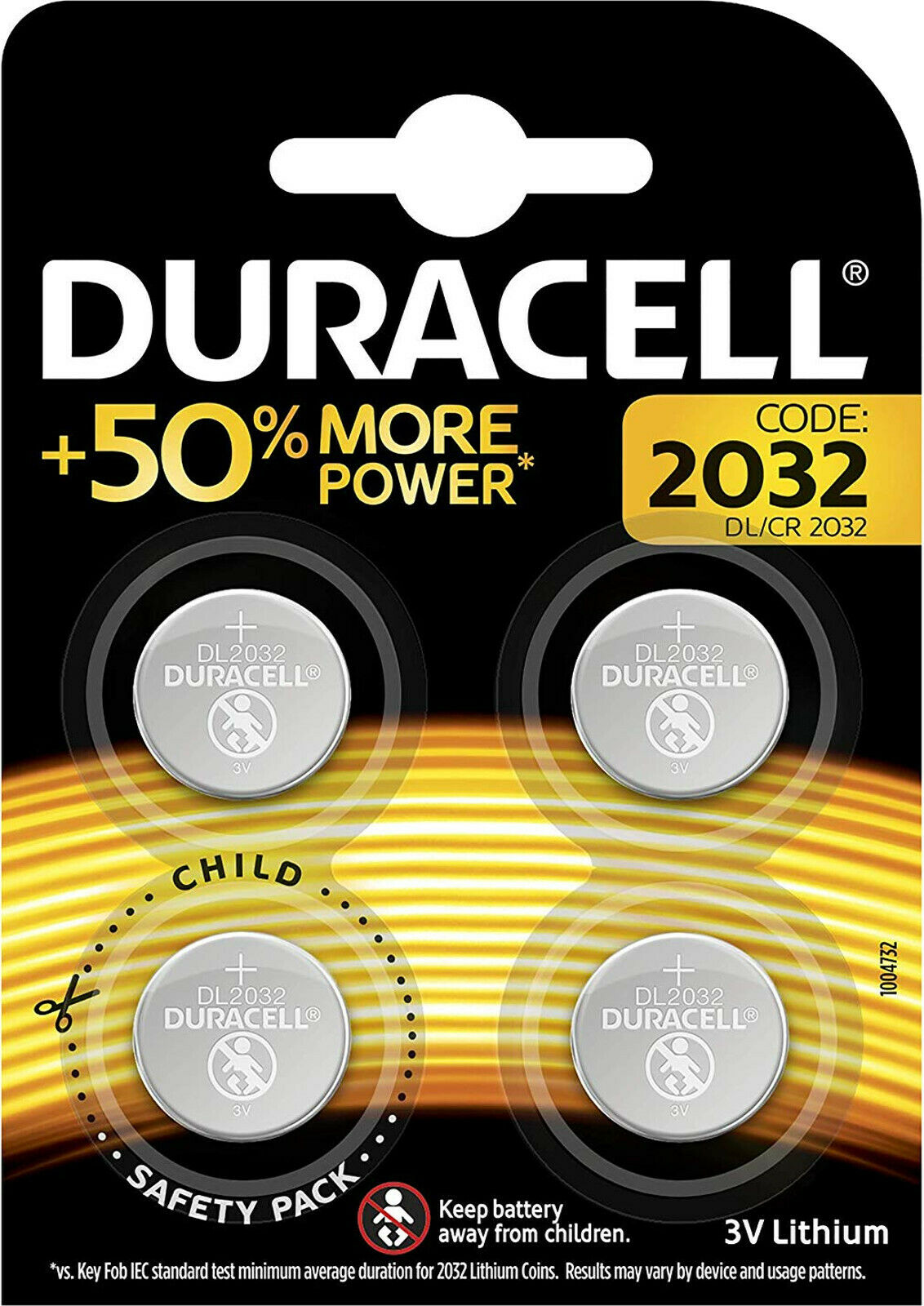 5x Duracell 2032 Lithium 3V Button Cell 4 he Blister CR2032 DL2032