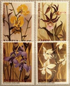 Zambia zambia 1992 595-98 orquídeas Orchids flores Flowers plantas flora mnh