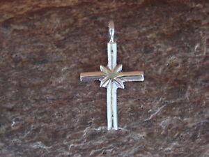 Navajo-Jewelry-Sterling-Silver-Cross-Pendant-by-Lorraine-Chee