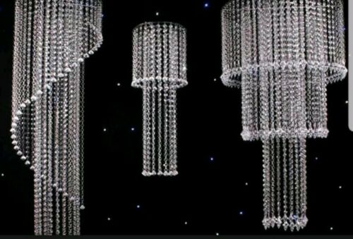 99 Feet Clear Acrylic Crystal Garland Hanging Bead Wedding Centerpiece Decor