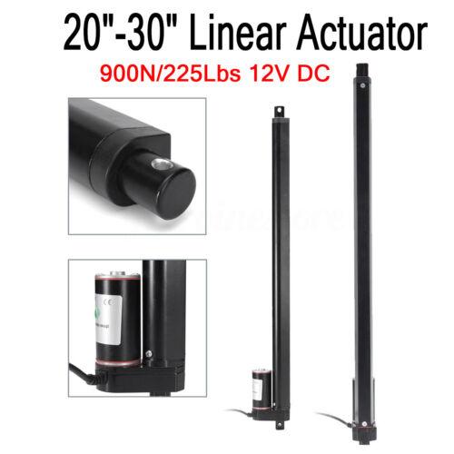 "Heavy Duty 20/"" 30/"" Inch Linear Actuator Stroke 225 Lb Pound Max Lift 12V Volt DC"