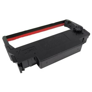 2-Epson-ERC-30-34-38-Black-Red-Printer-Ribbons-set-of-2