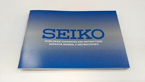 SEIKO-watch-worldwide-guarantee-and-Instructions-booklet-manual
