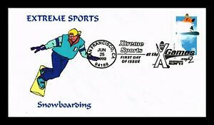 DR-JIM-STAMPS-US-EXTREME-SPORTS-SNOWBOARDING-FIRST-DAY-COVER-X-GAMES