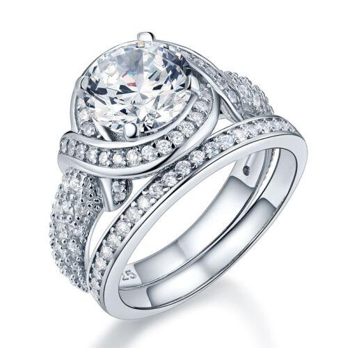 Verlobungsring Set 925 Sterlingsilber Hergestellten Diamanten Ring FR8239