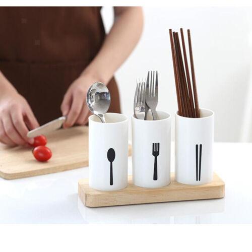 Plastic Utensil Cutlery Holder Caddy Organize Flatware Shiny Kitchen Drainer