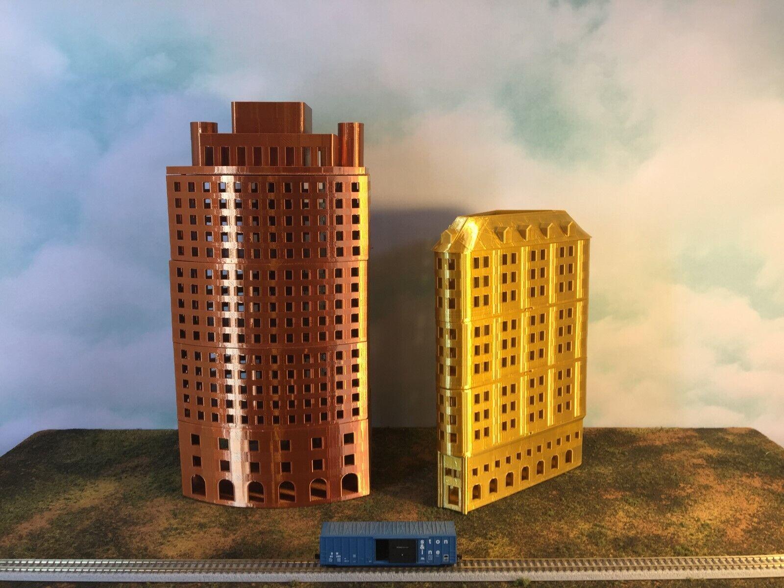 mejor vendido Cobre Metálico Oficina Oficina Oficina rascacielos edificio Z escala 1 220 añadir pisos para personalizar  venta caliente en línea