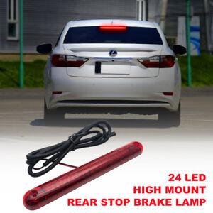 12V-Tercera-Luz-de-Freno-24-LEDs-Alto-Nivel-Trasero-Color-Rojo-para-Coche-Auto
