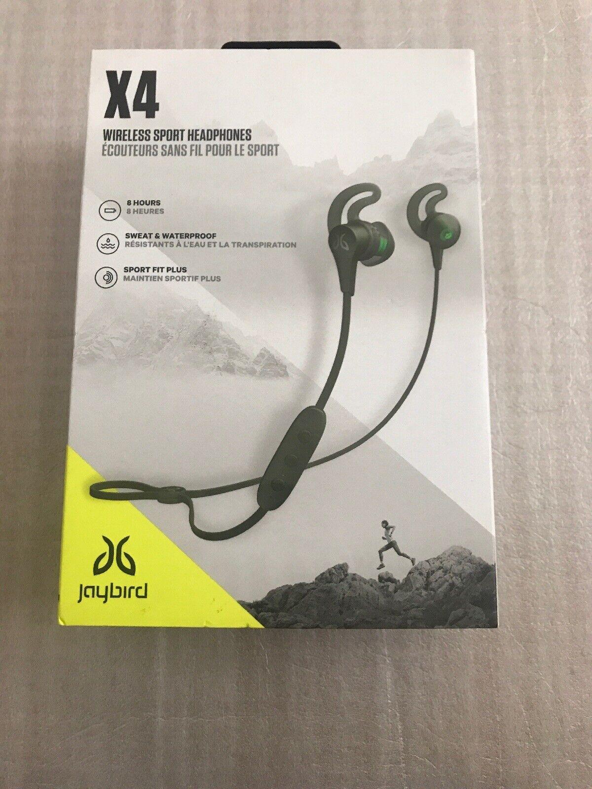 cdf10a61313 Jaybird X4 In-Ear Wireless Headphones - Alpha Metallic/Jade for sale online    eBay