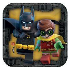 8pk LEGO Batman Cinéma Assiettes En Papier 18cm Super-héros DC