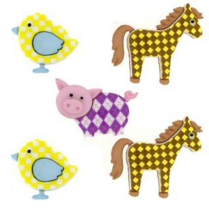 LIFE/'S A ZOO 10407 Animals Sew Craft Jesse James Buttons ~ Dress It Up