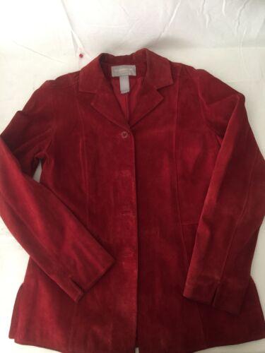 Liz Claiborne Red suede lined jacket/blazer