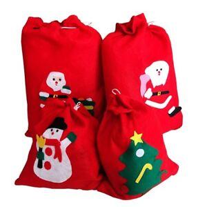 UK stock Non woven large Santa Sack Stocking bag Red Father Xmas ...