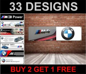 BMW M4 BADGE Banner – PVC logo banner for your workshop garage man cave