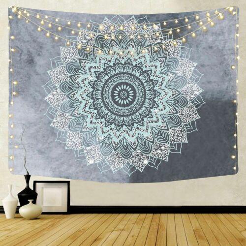 Trippy Sun Moon Mandala Tapestry Wall Hanging Beach Carpet Bed Sheet Yoga Mat