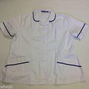 1ed193aed180a Image is loading Ladies-Nurse-Beauty-Healthcare-Beautician-Vet-Tunic-White-