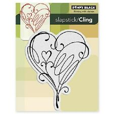 PENNY BLACK RUBBER STAMPS SLAPSTICK CLING LOVE FLOURISH STAMP 2012
