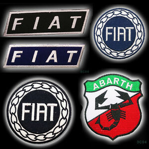 FIAT / ABARTH 500 Racing / Car Logo Embroidered Iron-On Patch Series