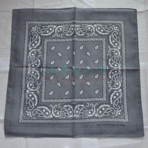 Bandana 100/% Cotton Paisley Print Double-Sided Scarf Head Wrap Neck Headband viv