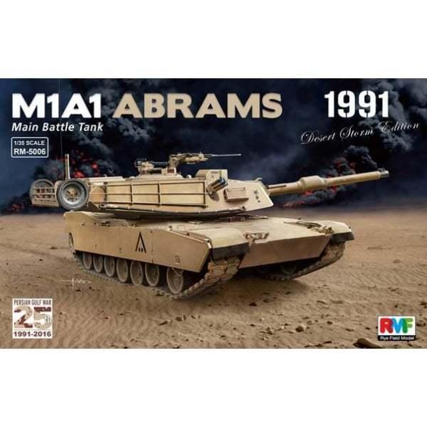 Rye Field Model 1 35 RM5006 M1A1 Abrams 25th Anniversary Gulf War Kit RM5006