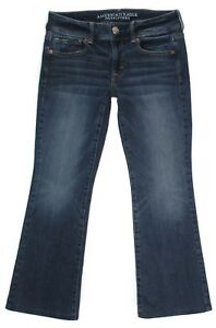 American-Eagle-Womens-Jeans-Size-4-Short-Super-Stretch-Kick-Boot-Hemmed