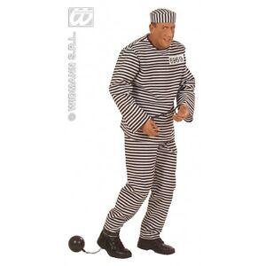 Carcerato L Costume Carnevale Vestito Taglia Ebay Uomo vEAwBHwcq