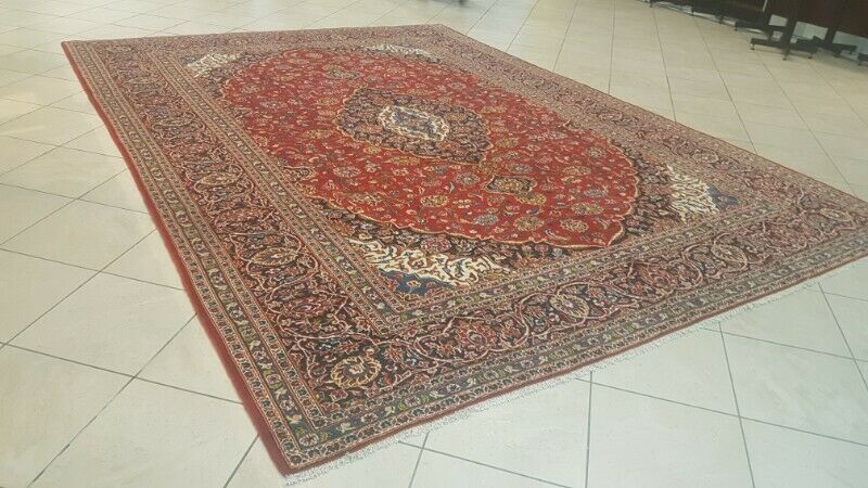 Persian Kashan Carpet 425cm x 298cm Hand Knotted Up To 75% Off