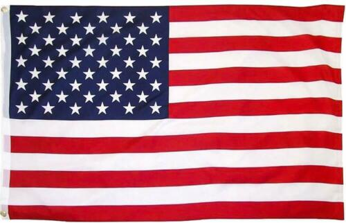 3/'x5/' ft American Flag Sewn Stripes Embroidered /& Poly Stars Brass Grommets USA