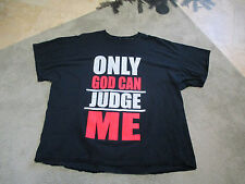 2pac Only God Can Judge Me Thug Life Shirt Adult 4XL Tupac Rap Tee Hip Hop Mens