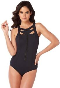 Magicsuit-240544-Womens-Swimwear-Scuba-Audra-High-Neck-One-Piece-Black-Size-12