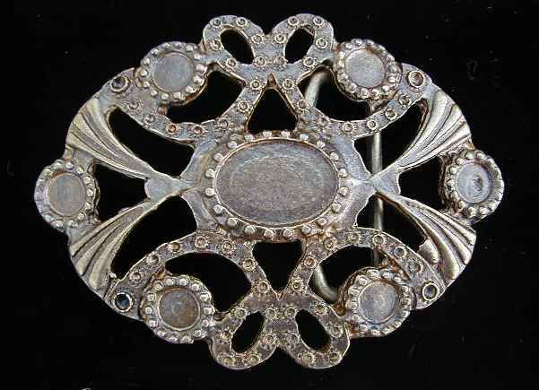 ANTIQUE BRASS FINISH BLANK BELT BUCKLE THAT CAN BE USED WITH CRYSTALS NEW