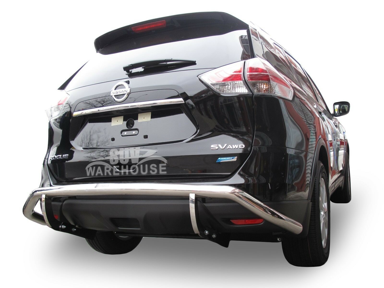 Details about Wynntech Stainless Steel Rear Bumper Guard Single Pipe For  14-18 Nissan Rogue