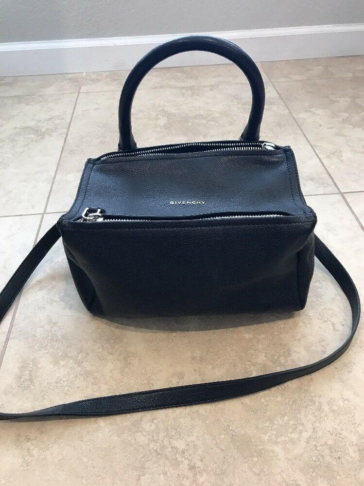 2045c53526 Givenchy Pandora Small Black Sugar Leather Shoulder Bag Retail for ...