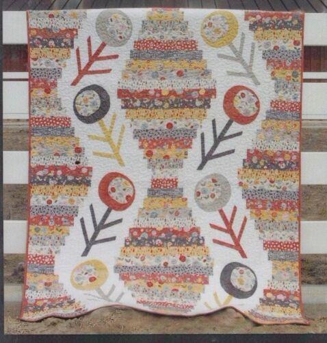 Abbey Lane fabulous pieced /& applique modern quilt PATTERN Wallflowers
