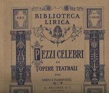 Spartito Musicale La Gioconda di Amilcare Ponchielli per Canto e Pianoforte 1910