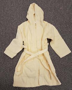 pour-Enfants-7-8-ans-jaune-towelled-Robe-de-chambre-unisexe-100-coton-nuit