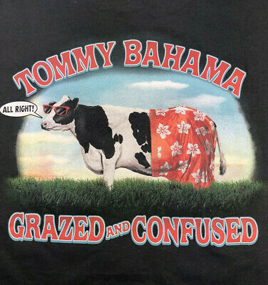 """NWT Reg $49 BLACK Authentic Tommy Bahama /""""GRAZED /& CONFUSED/"""" Men/'s Cotton"""